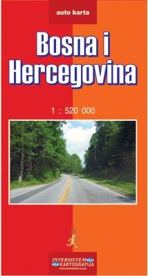 BOSNA I HERCEGOVINA - Auto karta