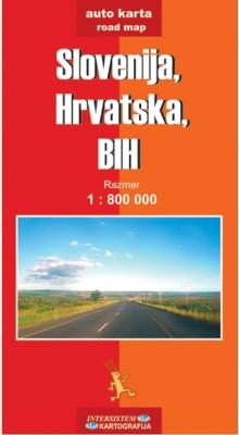 SLOVENIJA, HRVATSKA, BIH - Auto karta
