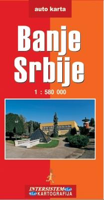 Banje Srbije - auto karta