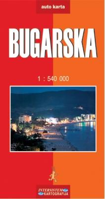 Bugarska - auto karta