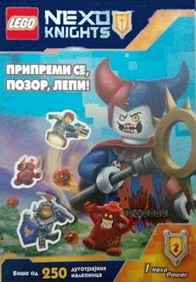 Lego Nexo Nights - Pripremi se, pozor, lepi! - 250 nalepnica