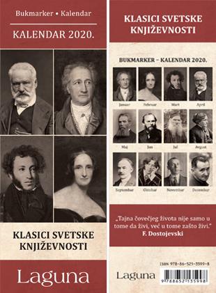 Bukmarker - kalendar 2020: Klasici svetske književnosti